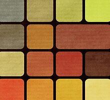 Cube Squares Retro by UniqueCase