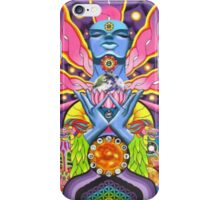 magic mushroom ayahuasca trippy psychedelic iPhone Case/Skin