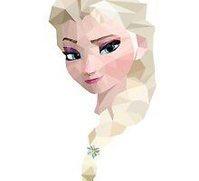 Elsa vector portrait by playstopreplay