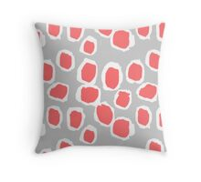 Zola - Abstract painted dots, painterly, bold pattern, surface pattern, print pattern design Throw Pillow