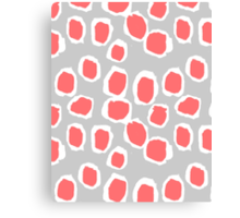 Zola - Abstract painted dots, painterly, bold pattern, surface pattern, print pattern design Canvas Print
