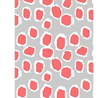 Zola - Abstract painted dots, painterly, bold pattern, surface pattern, print pattern design Photographic Print