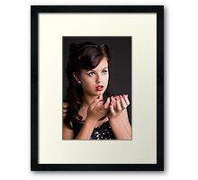 RetroTeenage Girl Framed Print