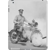 Motorcycle Policeman on Duty, 1923 iPad Case/Skin