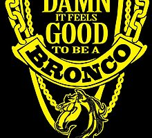 DAMN IT FEELS GOOD TO BE A BRONCO by fancytees