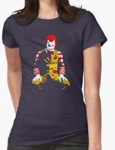 Banksy Joker McDonalds Womens Fitted T-Shirt