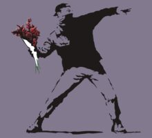 Banksy Flower Thrower Kids Clothes