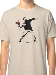 Banksy Flower Thrower Classic T-Shirt