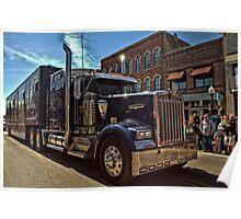 Express Clydesdale Kenworth Semi Truck Poster