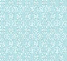 white seamless lace floral pattern by handik
