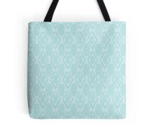 white seamless lace floral pattern Tote Bag