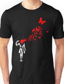 Banksy Butterfly Girl Unisex T-Shirt