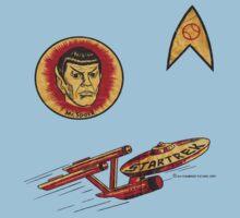 Spock Star Trek Costume from 1975 (yes, really) Kids Tee