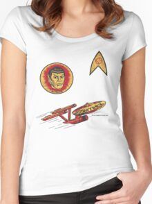 Spock Star Trek Costume from 1975 (yes, really) Women's Fitted Scoop T-Shirt