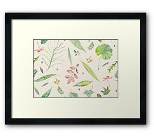 Leaf study watercolor Framed Print