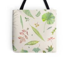 Leaf study watercolor Tote Bag