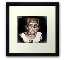 Maria, 89 yrs (2011) Framed Print