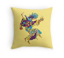 Psychedelic Plague Doctor Throw Pillow