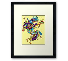 Psychedelic Plague Doctor Framed Print
