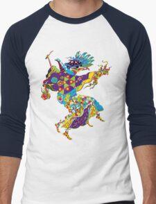 Psychedelic Plague Doctor Men's Baseball ¾ T-Shirt