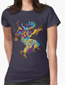 Psychedelic Plague Doctor Womens Fitted T-Shirt
