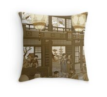 The Heavenly Lotus Tea House Throw Pillow