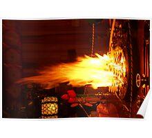 Buddhist Fire, Japan Poster
