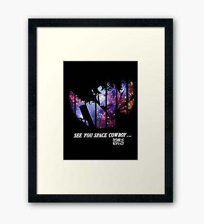 Cowboy Bebop - Nebula Framed Print