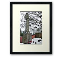 Monmouth Castle War Memorial 2 Framed Print