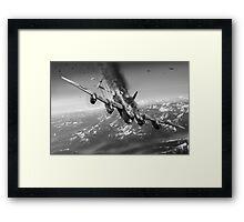 Berchtesgaden Lancaster F-for-Freddy black and white version Framed Print