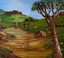 African Village by Gerhard Brand