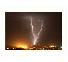 Northern Adelaide Thunderstorm 3 Art Print