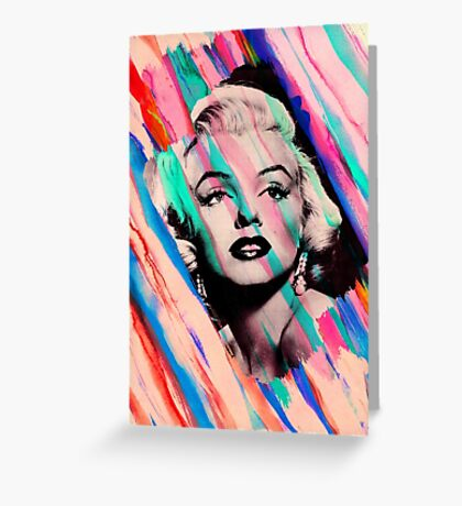 Marilyn Monroe Rainbow Paintbrush Greeting Card