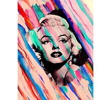 Marilyn Monroe Rainbow Paintbrush Photographic Print
