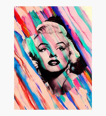 Marilyn Monroe Rainbow Paintbrush Photographic Print