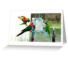 Dropping in for a bite! Greeting Card