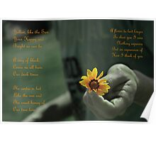Handing Yellow Flower (With Poems) Poster