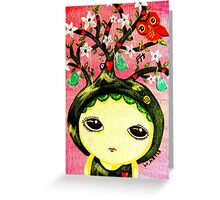 She Grows A Tree Greeting Card