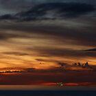 cruiser with sunset III - crucero con puesta del sol by Bernhard Matejka