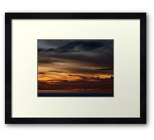 cruiser with sunset III - crucero con puesta del sol Framed Print