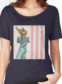 statue of liberty with torch Women's Relaxed Fit T-Shirt