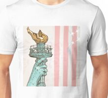 statue of liberty with torch Unisex T-Shirt