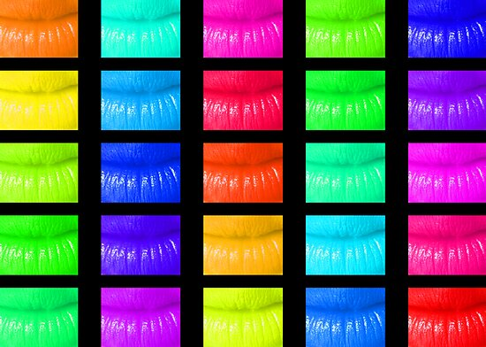 Multi coloured lips by digitalillusion