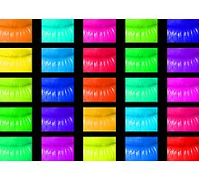 Multi coloured lips Photographic Print
