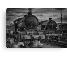 Steam Nostalgia At Barrow Hill Roundhouse. Canvas Print