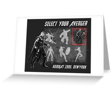 Select Your Avenger Greeting Card