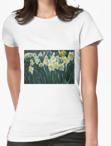 White Daffodils Womens Fitted T-Shirt
