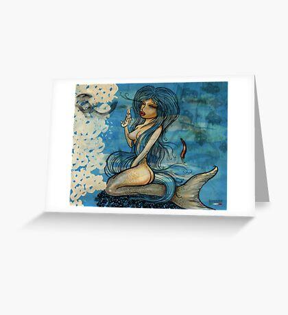 pin up - siren lowar ocean Greeting Card
