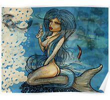 pin up - siren lowar ocean Poster