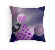 """You are my planet and my four-leaf clover"" Throw Pillow"